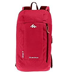 QUECHUA Kids Outdoor Travel Backpack For Hiking Camping Children Cute Hiking Daypack Colorful School Bags Patchwork Bookbags Mini Small Back Packs Rucksack 10L (Red)