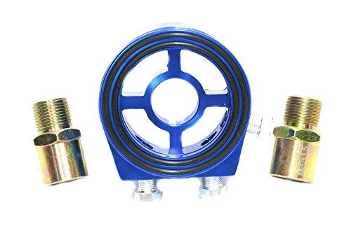 【OMTYAL】センサー 取付用 オイルブロック 油温 油圧計 センサー 汎用 センター ボルト 2種類付属 (ブルー)
