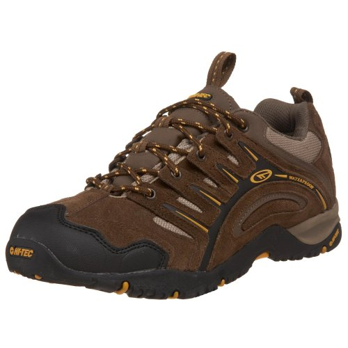 Hi-Tec Men's Auckland WP Sneaker,Moss/Brown/Gold,10.5 M