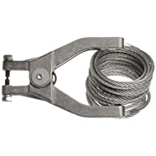 "Justrite 08496 10' Long Flex Wire With Hand Clamp And 1 /4"" Terminal"