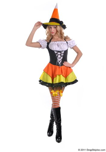 Candy Corn Witch Costume - Large - Dress Size 12-14