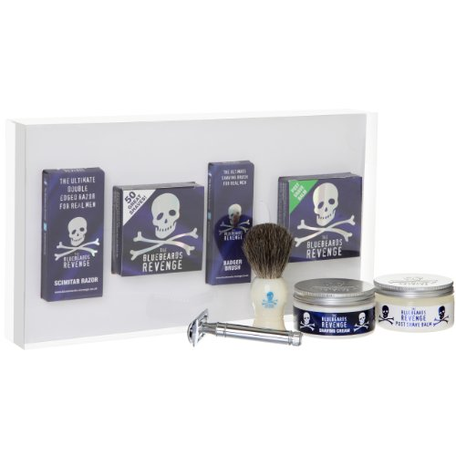 The Bluebeards Revenge Shaving Cream with Brush and Scimitar Safety Razor Gift Set