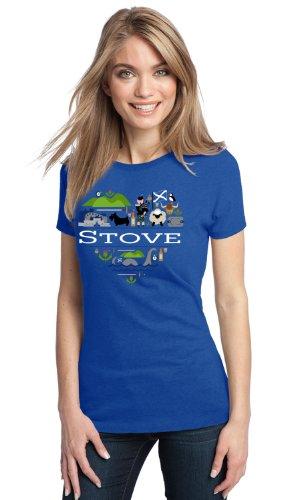 I Love Stove, Scotland | Alba Ladies' T-Shirt-Small front-516349