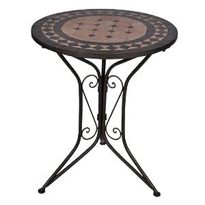Gartentisch rund mosaik  My Garden Mosaik-Tisch, Eisen pulverbeschichtet, Mosaik-Platte ...