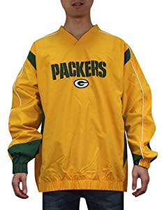 NFL Green Bay Packers Mens Athletic Wind Breaker with Emboridered Logo from NFL