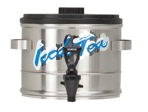 Wilbur Curtis Iced Tea Dispenser 1.5 Gallon Tea Dispenser, Stackable - Designed to Preserve Flavor  - TC15S (Each)