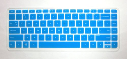 Swan Semi-Blue Ultra Thin High Quality Silicone Keyboard Protector Skin Cover For Hp Split X2 13 13-M*** 13-G*** Envy 14-K*** 14-F*** 14-E*** 14-N*** Series, Such As 13-M110Dx 13-M010Dx 13-G110Dx 14-K020Us 14-K010Us 14-K027Cl 14T-K100 14-F020Us 14-F021Nr