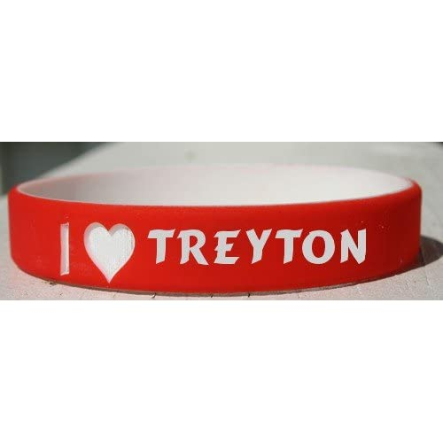 Love Treyton personalized wristband (first name/surname/nickname)