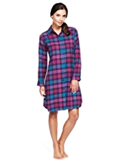 Limited Collection Pure Cotton Checked Nightshirt