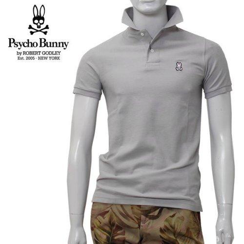 (サイコバニー) Psycho Bunny ポロシャツ 半袖 グレー KR0001 ALU/Psycho Bunny [並行輸入品]