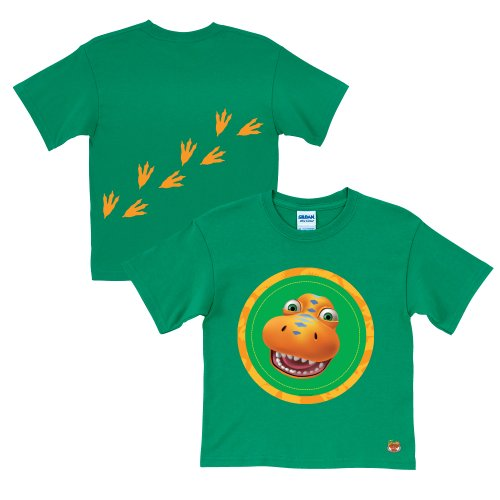 Dinosaur Train Buddy Tracks Green T-Shirt Size 2T