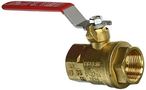 Red white valve 5044ab 1 brass ball valve with threaded ends 1 quot lead