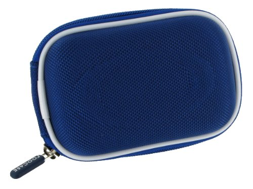 rooCASE Nylon Hard Shell (Dark Blue) Carrying Case with Memory Foam for Canon PowerShot SX230 HS GPS-enabled Digital Camera