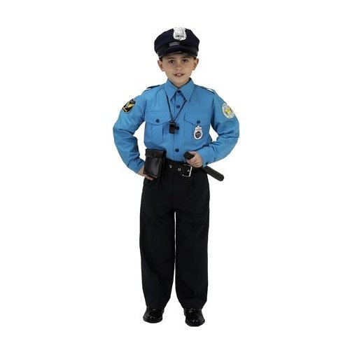 AEROMAX - Jr. Police Officer Suit Child Costume - Small (4-6)
