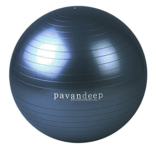 Pavandeep 2000lbs Exercise Stability Ball - Charcoal