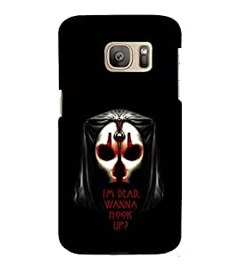 EPICCASE I'm Dead wanna hookup Mobile Back Case Cover For Samsung Galaxy S7 Edge (Designer Case)