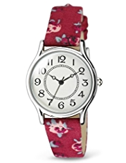 M&S Collection Round Face Floral Strap Analogue Watch