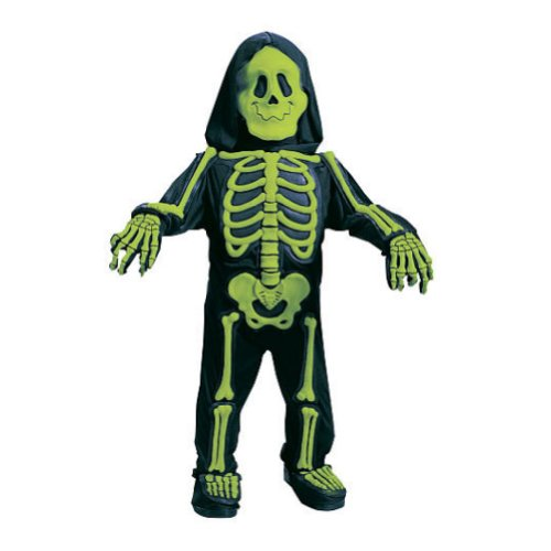Fun World Toddler & Boys Green Skelebones Costume 3D Skeleton Jumpsuit