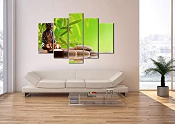 impression sur toile 150x100 cm image sur sur toile 5 parties encadr e prete a. Black Bedroom Furniture Sets. Home Design Ideas