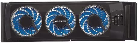 Bionaire Energy Saving Manual Thin Window Fan, Black