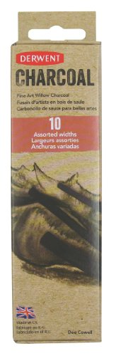 derwent-assorted-willow-charcoal-pack-of-10-natural-willow-sticks