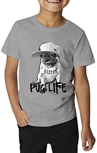 pug-life-gangsta-stuff-ballen-la-city-2pac-style-tattoos-dangerous-animal-kids-t-shirt-xl-158-164-cm