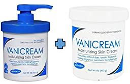 Vanicream Moisturizing Skin Cream with Pump Dispenser Plus Bonus Jar Combo Pack , 1 Pound Each