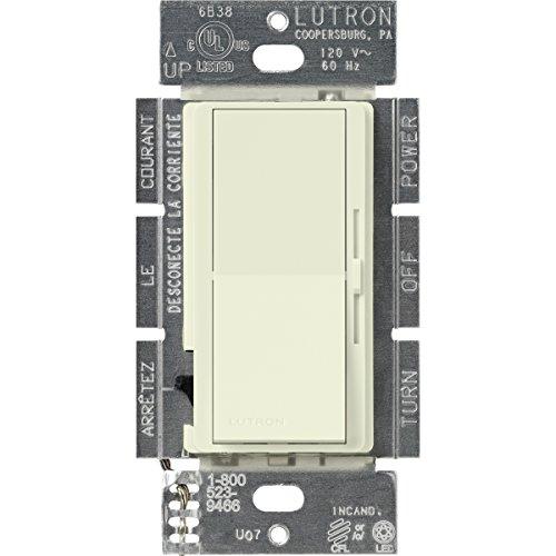 Lutron Dvsccl-253P-Bi Diva 250-Watt Single Pole/3-Way Cfl/Led Dimmer, Biscuit