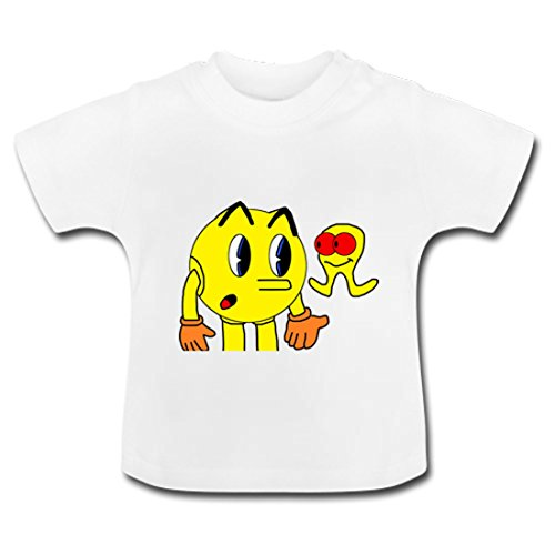 LARger pac-man Baby Classic T-Shirt 4T White
