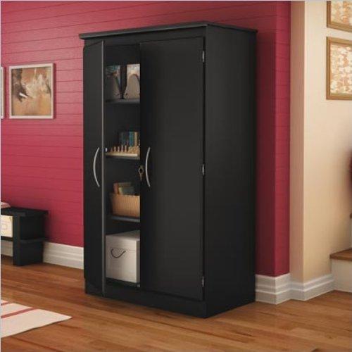 South Shore Morgan Collection Storage Cabinet, Solid Black
