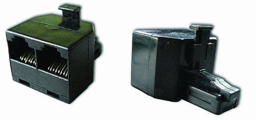 Modular-Verteiler RJ45 Stecker/Buchse 8/8 Stecker auf 2x8/8 Buchse