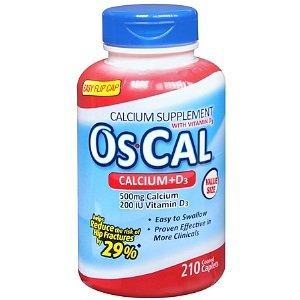 Os Cal Calcium + D3, Coated Caplets 210 Ea