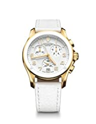 Swiss Army Quartz Chrono White Dial Women's Watch - V241511