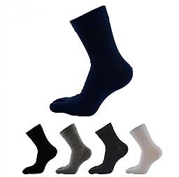 TULIPTREND Women\'s Solid Color Cotton Crew Toe Socks , Pack of 5