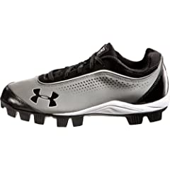 Buy Boy's Under Armour Leadoff IV Low Youth Baseball Cleat Grey Black by Under Armour