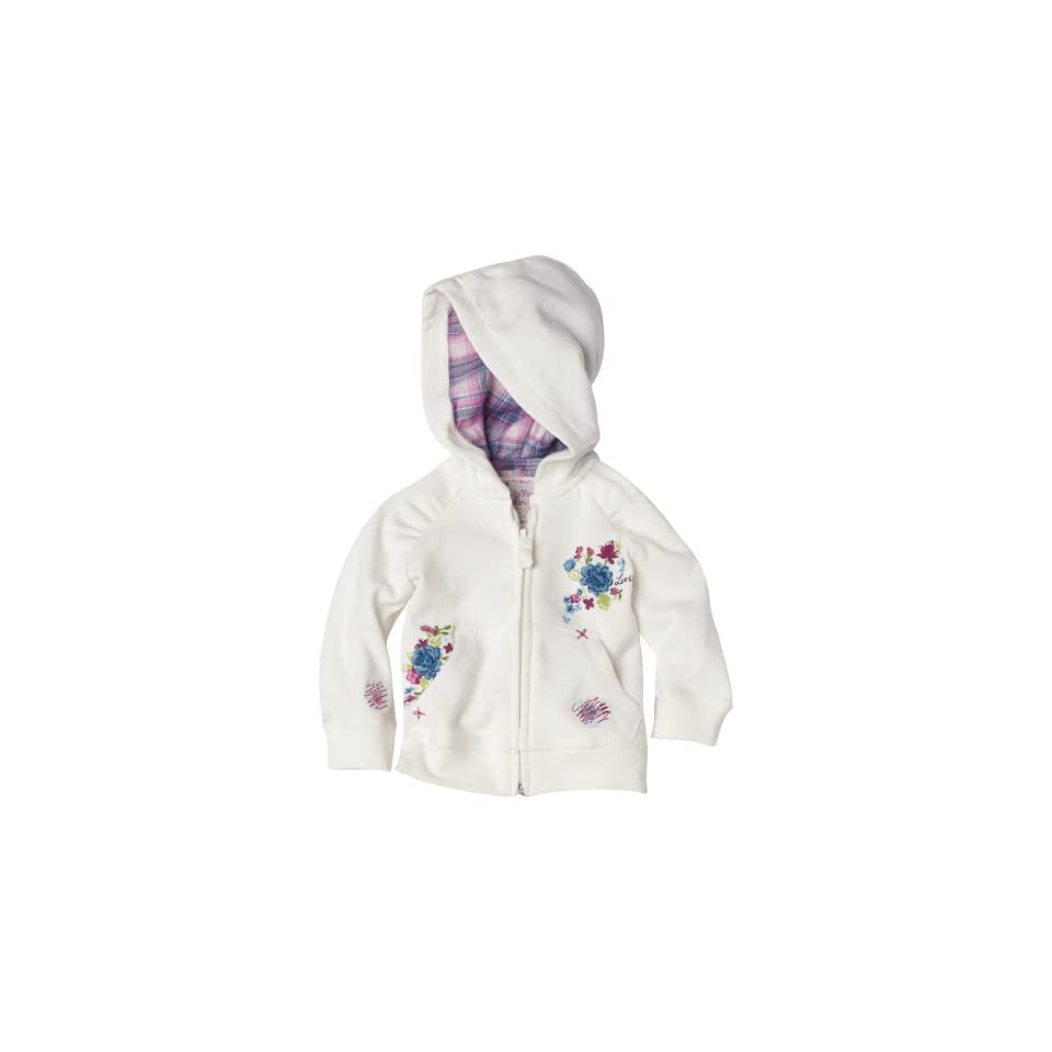 Levis Baby Girls Love and Repair Hoody Sweater, Ivory, 18 Months