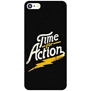Apple iPhone 5C Back Cover - Time For Action Designer Cases