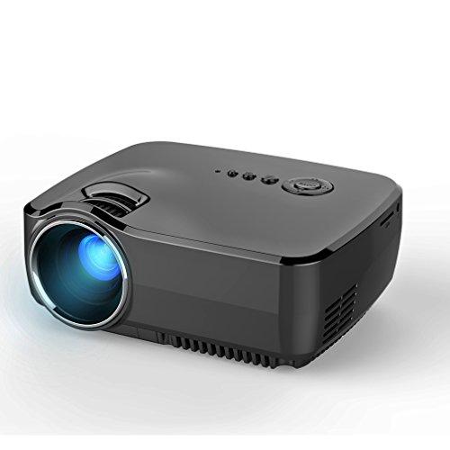 Jokeret Multimedia Mini Portable LED Projection GP70 1200 Lumens Micro Projector Home Cinema Support PC Laptop...