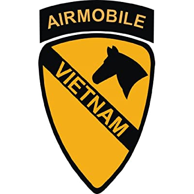 Army 1st Cavalry Division Airmobile Vietnam Patch Decal Sticker 5.5