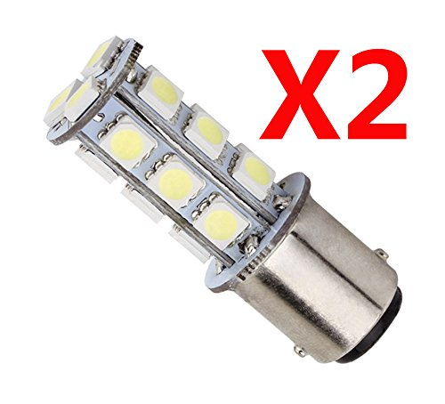 S&D Big Sale!!! 2Pcs 1157 Ba15D P21W 18 Led 5050 Smd Auto/Car/Truck/Vehicle Brake Tail Turn Signal Parking Side Marker Fog Backup Light Lights Bulb Lamp One Pair,White, 6000K, 150-180Lm