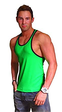 312R Neon Green With Black Trim Tank Top at Amazon Men's #1: 411icuOrQGL SY445 QL70