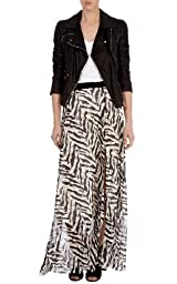 Silk Zebra Print Maxi Skirt - Limited Edition