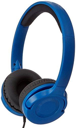 AmazonBasics Lightweight On-Ear Headphones - Blue