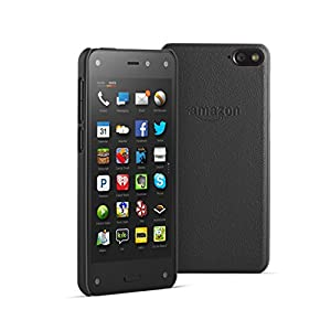 Amazon Fire Phone 32GB Unlocked GSM + Black Leather Case Bundle