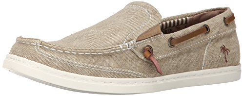 Margaritaville Footwear Men's Dock Boat Shoe, Tan, 10.5 M US