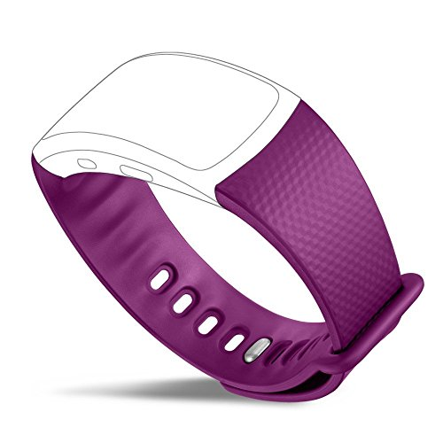 Samsung Gear Fit2 Band, UMTELE Soft Silicone Replacement Bands for Gear Fit 2 SM-R360 Fitness Watch Purple