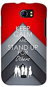 PrintVisa 3D-MMXC2A110-D8063 Quotes Stand Up Back Cover for Micromax Canvas 2 A110