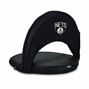 NBA Brooklyn Nets Oniva Portable Reclining Seat by Picnic Time