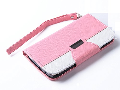 Mylife Starburst Pink {Exquisite Design} Faux Leather (Card, Cash And Id Holder + Magnetic Closing) Slim Wallet For The All-New Htc One M8 Android Smartphone - Aka, 2Nd Gen Htc One (External Textured Synthetic Leather With Magnetic Clip + Internal Secure