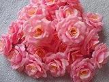 [Neustadt] 結婚式 2次会 パーティー お祝い 手作りに バラの 造花 8センチ(花のみ)50コ ライトピンク